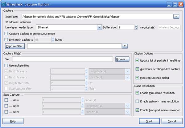 Захват сетевых пакетов с помощью программы Wireshark – Keenetic