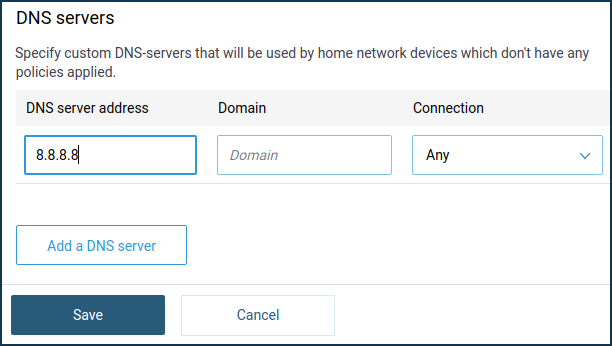 Custom DNS servers – Keenetic