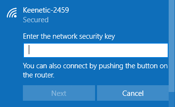 Connecting to a wireless network via WPS – Keenetic