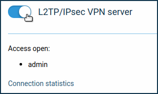 L2TP/IPSec VPN server – Keenetic