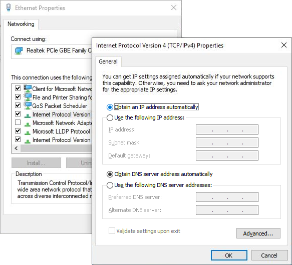 How to change the network adapter settings in Windows to ...